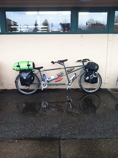 Bilenky tandem all loaded up and ready to ride