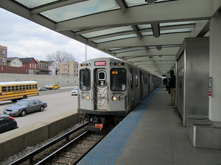 CTA Red Line Train at Garfield