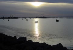 Sunset over Saltend jetty