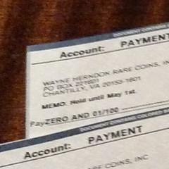 One-cent checks at Nummis Nova 2015-04=14