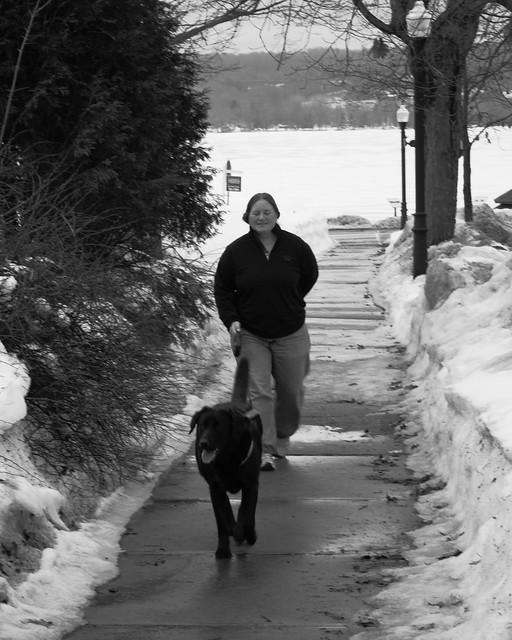 IMG_3798 Woman w Black dog 1