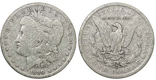 Sandblasted Harrahs silver dollar