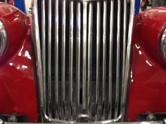 1954 MG TF Red California Black Plate