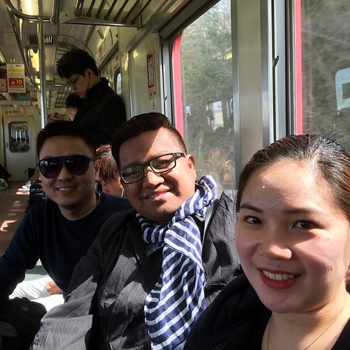 Good morning #Japan! Now touring Toyota City by Meitetsu train with Pinoy friends Aimee and Roche #SmartRoaming