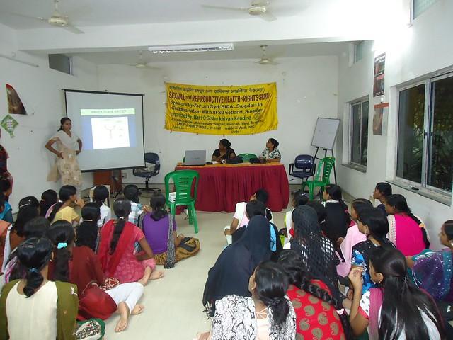 Awareness programme of Adolescent girls at  Nari-O-Sishu Kalyan Kendra.