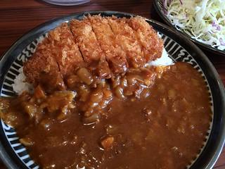 Curry rice topped with deep-froed pork from Tonkatsu Mizuno @ Akasaka