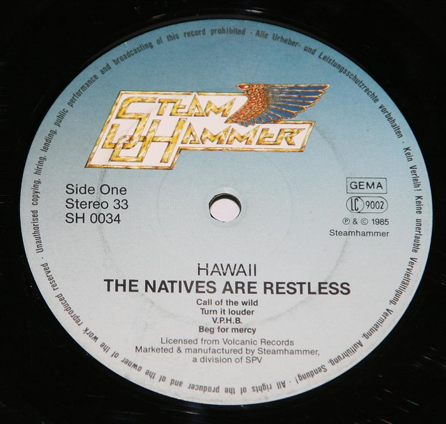 "HAWAII THE NATIVES ARE RESTLESS 12"" VInyl LP"