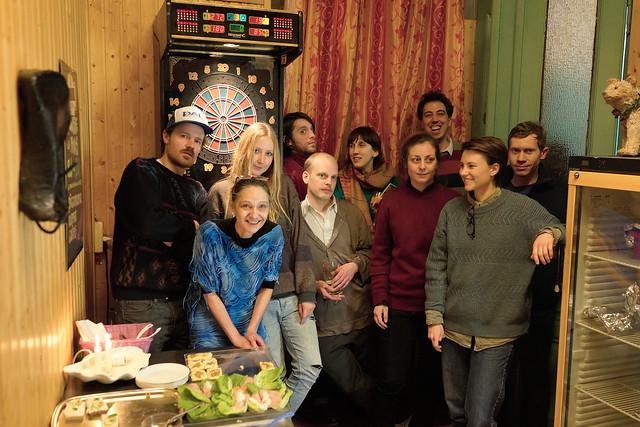Gruppenfoto mit Künstlern