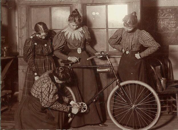 Image result for bike repair woman