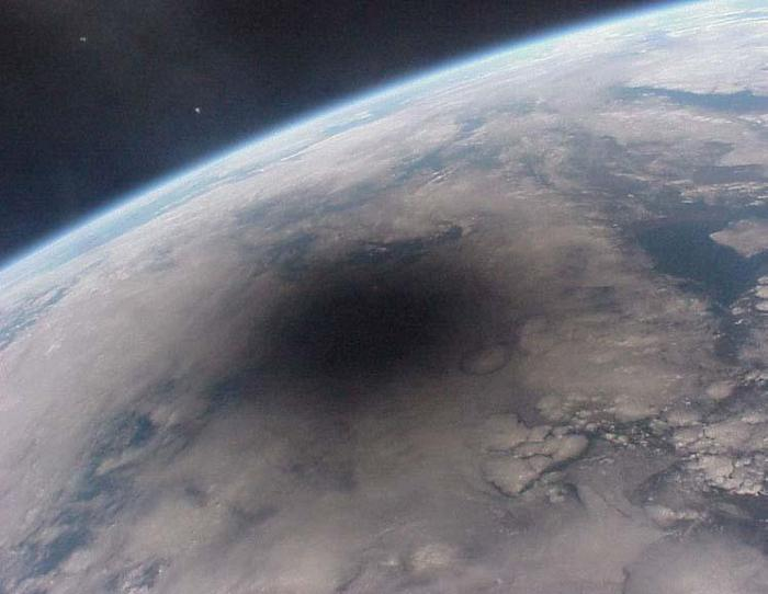 Totality from space