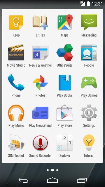 YotaPhone 2 - Default Apps