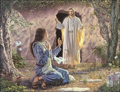 Marie-Madeleine envoyée aux apôtres par Jésus ressuscité