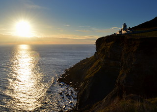 Rising Sun over North Yorkshire cliff tops