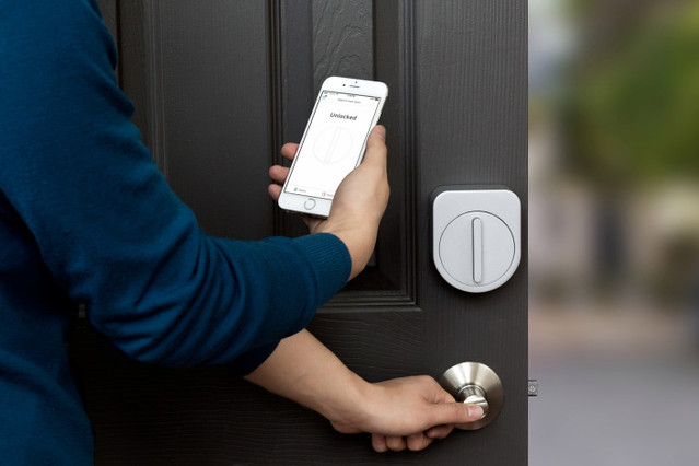 The Sesame lock attaches to doors and is operated by a smartphone app