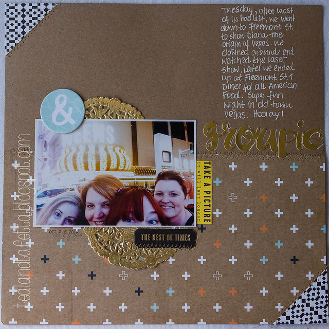 Scrapbook Layout: Groupies