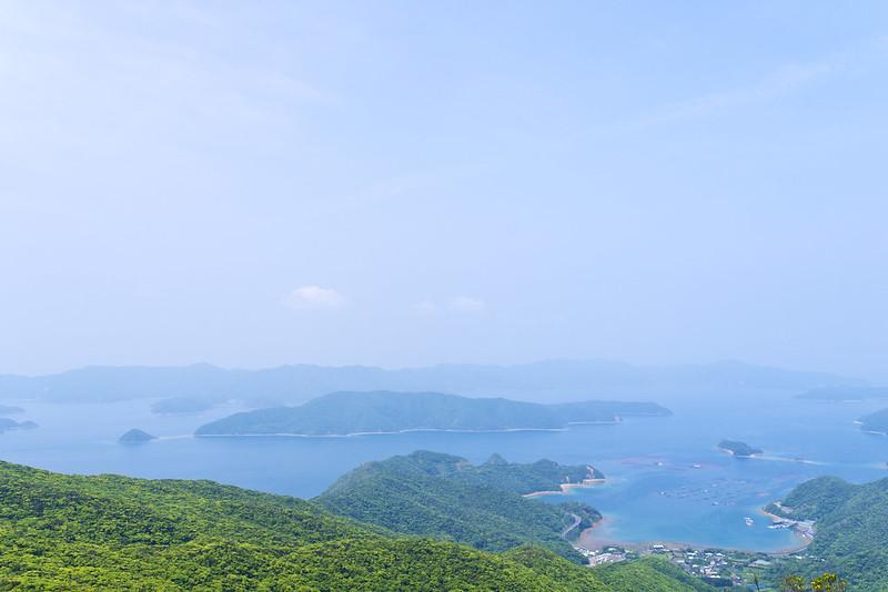 高知山展望所からの加計呂麻島
