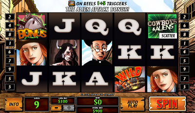 Cowboys and Aliens slot game online review