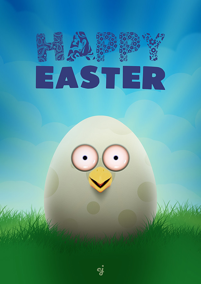 Happy Easter Poster design