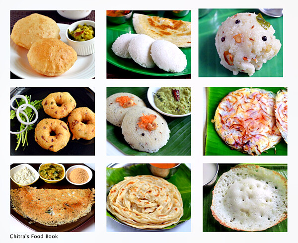 South indian breakfast recipes top 12 tiffin items list from south indian breakfast recipes forumfinder Images