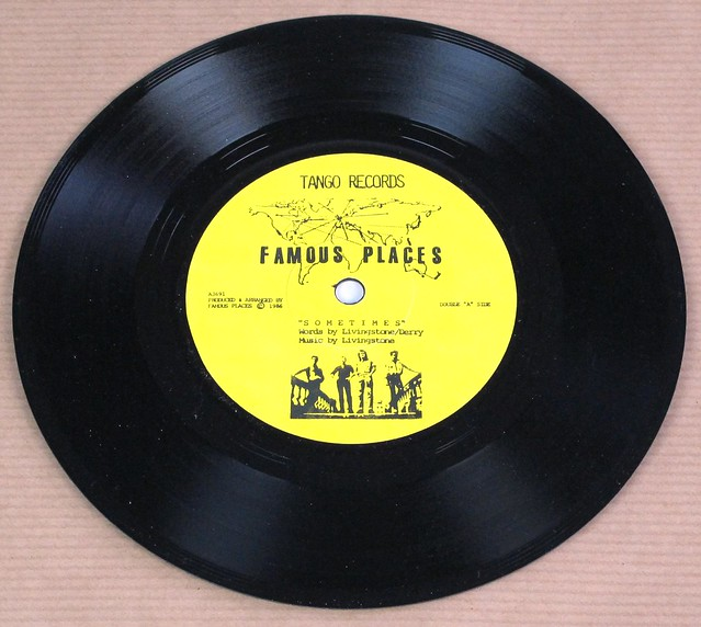 "FAMOUS PLACES SOMETIMES / BIDE YOUR TIME , TANGO RECORDS 7"" 45RPM PS SINGLE VINYL"
