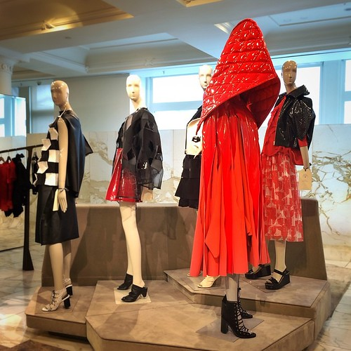 Not so little red riding hood coat / #junyawatanabe for @commegarcons. #Bjork wore this and Bjork knows best. #commedesgarcons #london #selfridges