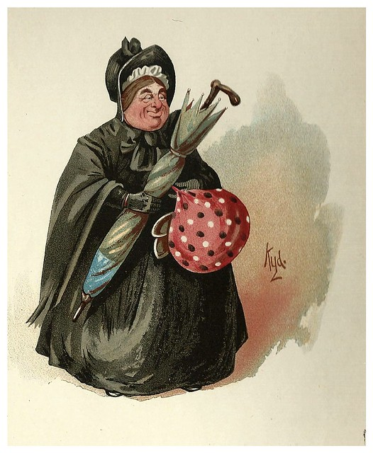 006-la señora Gamp-Character Sketches from Charles Dickens…1889- J. Clayton Clarke- The Victorian Web