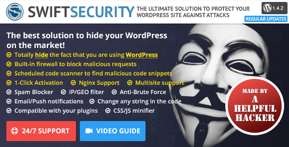 Swift Security Bundle v1.4.2.15 - Hide WordPress, Firewall, Code Scanner