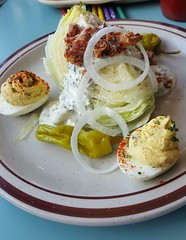 Steubens Wedge Salad and deviled eggs!