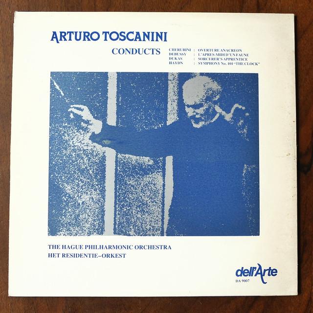 Backside Cherubini, Debussy, Dukas, Haydn - Residency Orch., Arturo Toscanini, Dell'Arte DA 9007