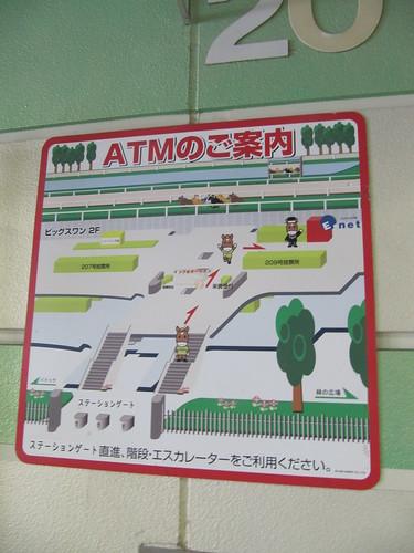 京都競馬場のATMの場所