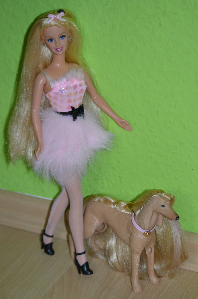 Image result for Barbie Glam N Groom Pets Christie with pet Keely