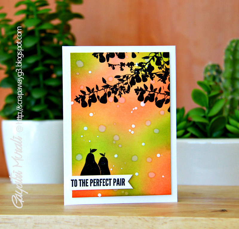 To the perfect pair card
