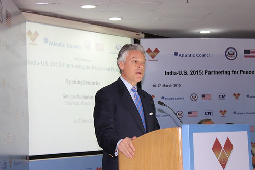 Gov. Jon Huntsman Jr, Atlantic Council Chairman, opens the India-US 2015 conference