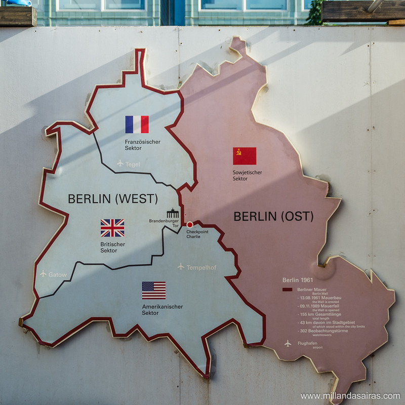 Reparto de la ciudad de Berlín entre las fuerzas aliadas