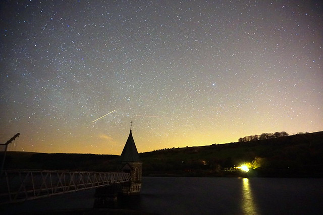 Stars above Pontsticill Reservoir