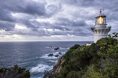 Seal Rocks Sugarloaf lighthouse predawn