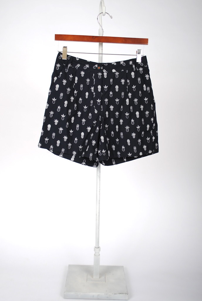 Poplin Pineapple Shorts