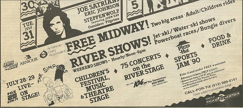 07/27/90 - 08/05/90 RiverFest 1990 @ Harriet Island, St. Paul, MN (Ad-Bottom)