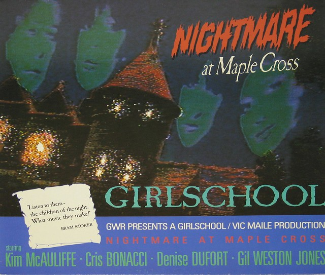 "GIRLSCHOOL NIGHTMARE AT MAPLE CROSS NWOBHM 12"" Vinyl LP"