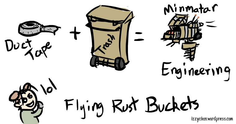 minmatar engineering duct tape trash can flying rust bucket izzychan