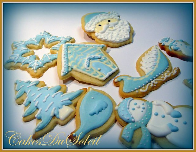 Christmas Cookies in Blue