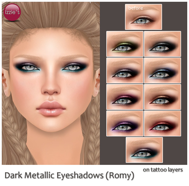 Dark Metallic Eyeshadows (for Skin fair)