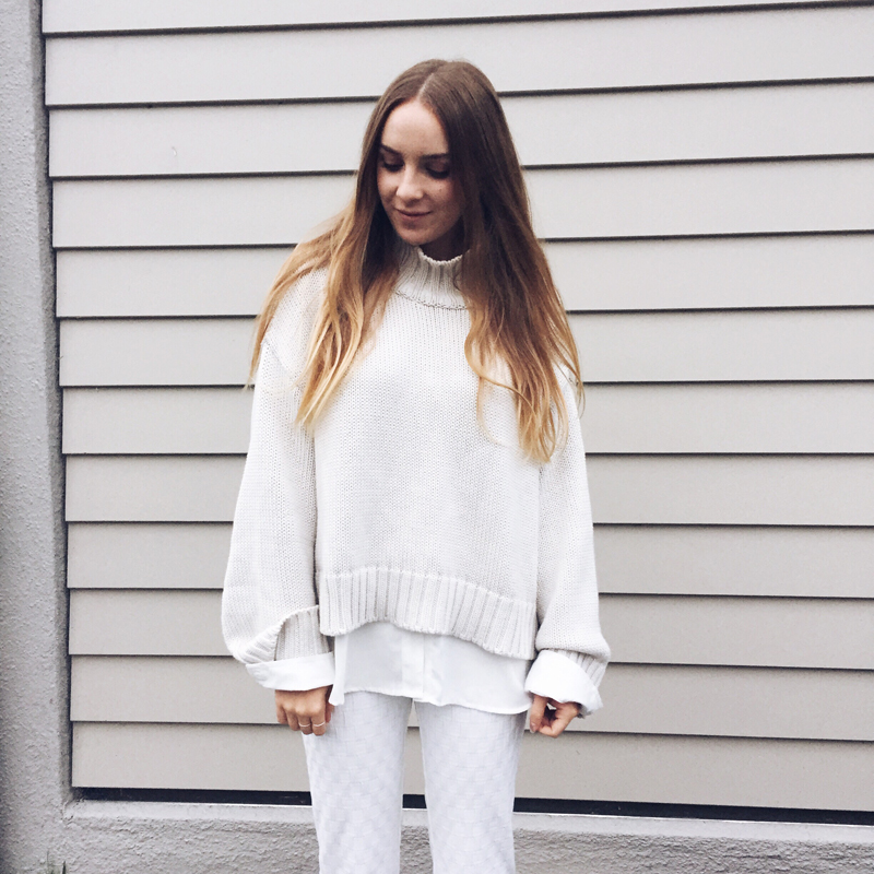 Fashion Blogger | Kendra Alexandra | ASOS Sweater, Glassons Shirt, Topshop Trousers