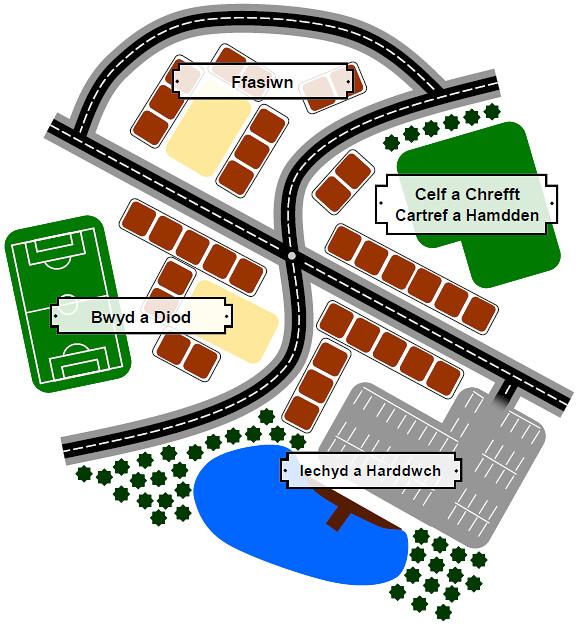 map Rhith-Wrecsam
