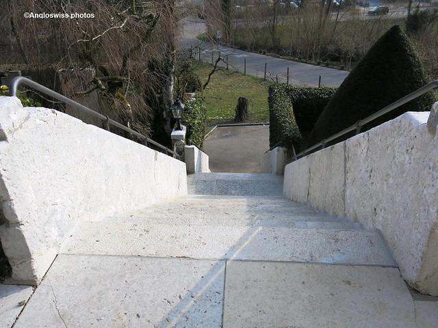 Stairs from Church St. Niklaus, Feldbrunnen
