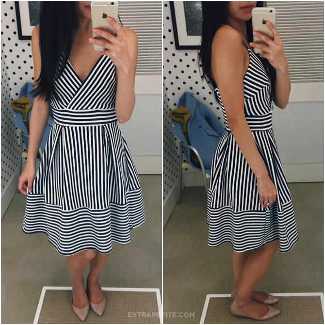 Aqua striped dress bloomingdales