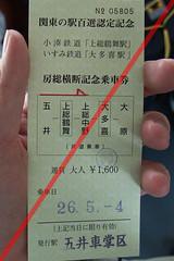 房総横断記念乗車券