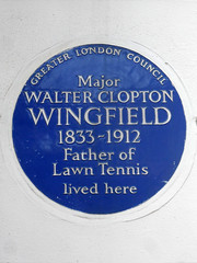 Photo of Walter Clopton Wingfield blue plaque