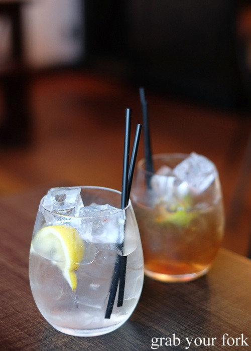 Home-infused rum and gin cocktails at CGR Merchant and Co, Wellington