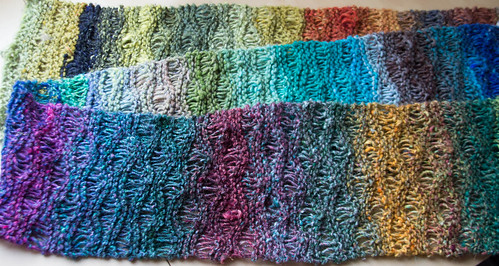 Noro waves scarf